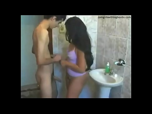 Sister brother sex in bathroom