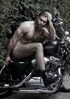 Naked boys on motorcycles