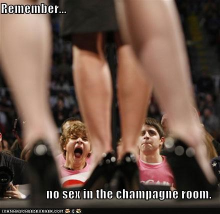 No sex in champagne room