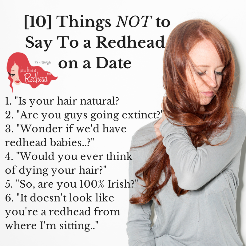 Reasons to date a redhead