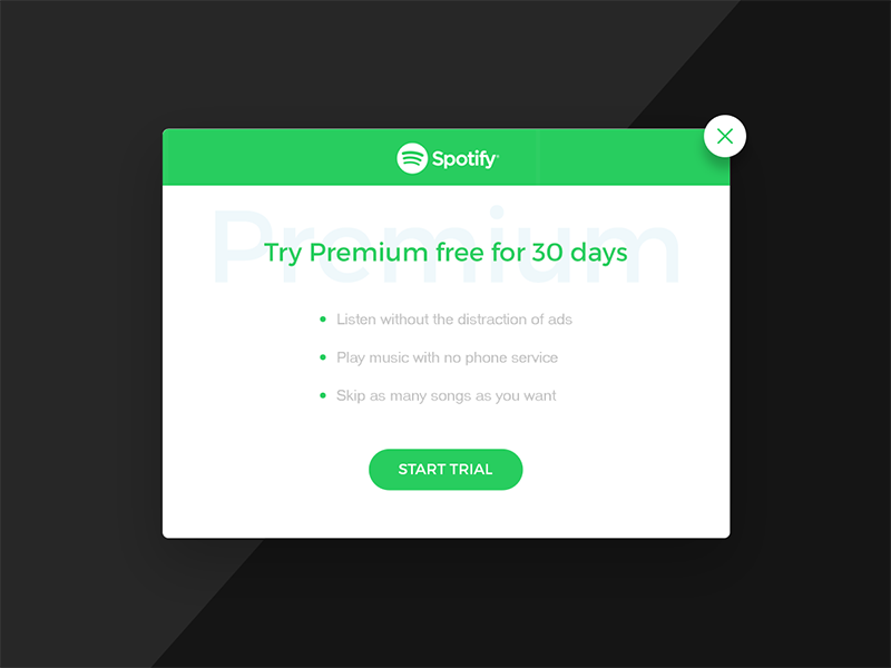 Spotify sign up for premium